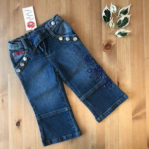 Lipstik NWT embroidered jeans